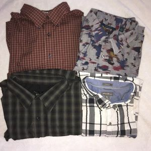 Lot of 4 men's shirts size 3X.